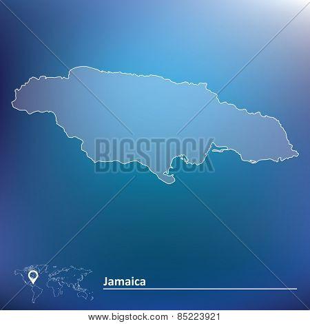 Map of Jamaica - vector illustration