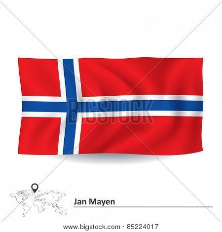 Flag of Jan Mayen - vector illustration