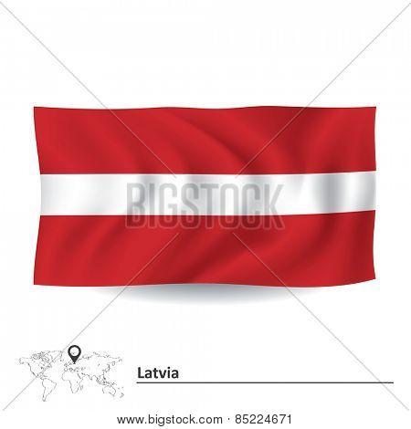 Flag of Latvia - vector illustration