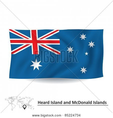 Flag of Heard Island and McDonald Islands - vector illustration