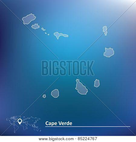 Map of Cape Verde - vector illustration
