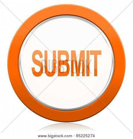 submit orange icon