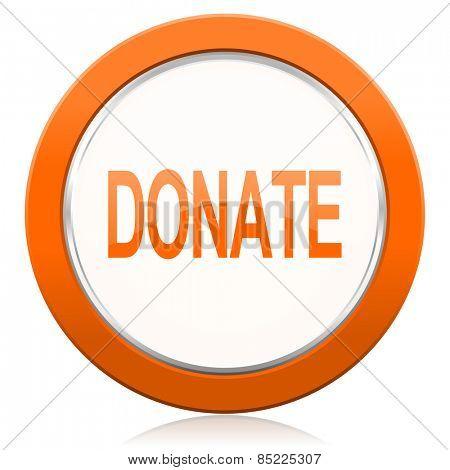 donate orange icon