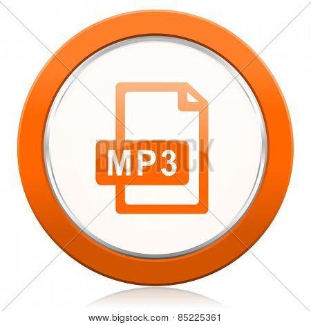 mp3 file orange icon