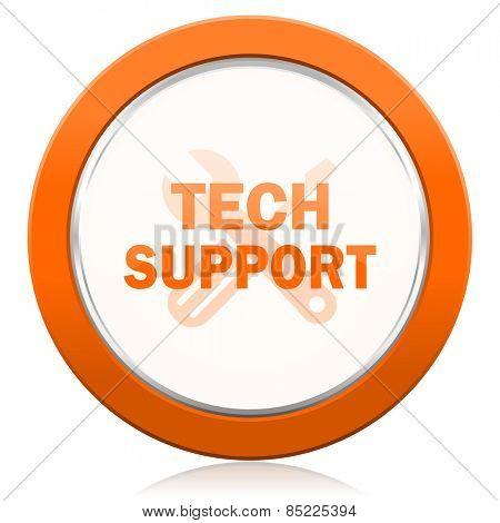 technical support orange icon