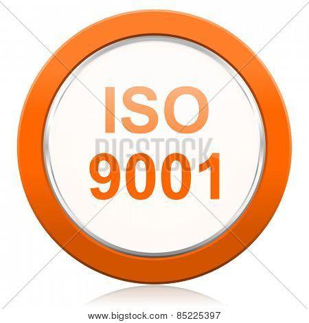iso 9001 orange icon