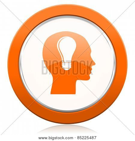 head orange icon human head sign