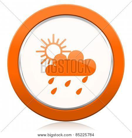 rain orange icon waether forecast sign