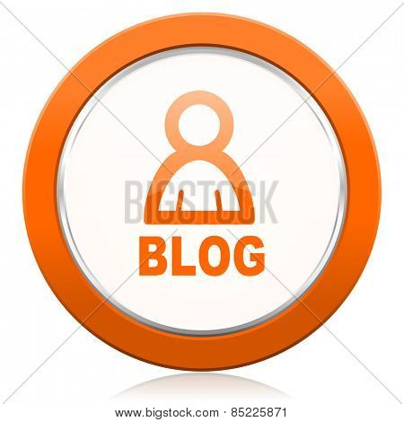 blog orange icon