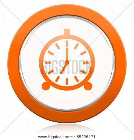 alarm orange icon alarm clock sign