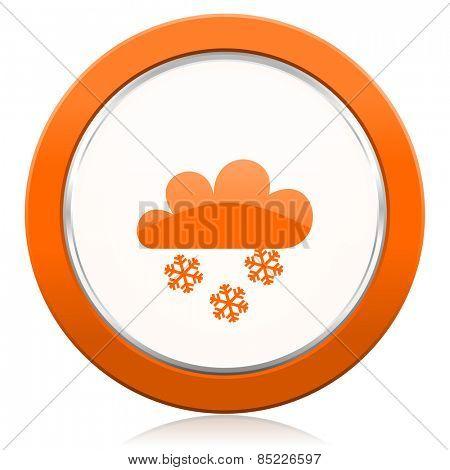 snowing orange icon waether forecast sign