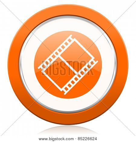 film orange icon movie sign cinema symbol
