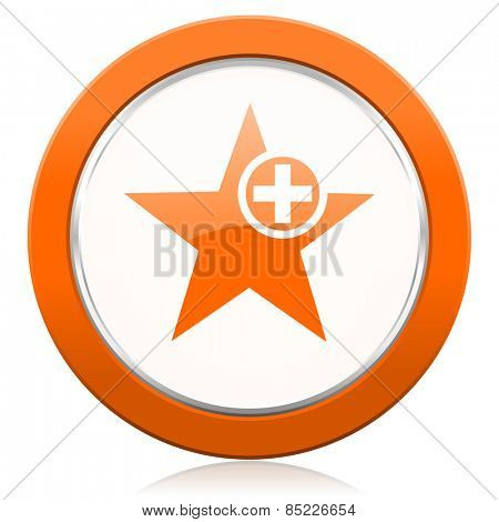 star orange icon add favourite sign