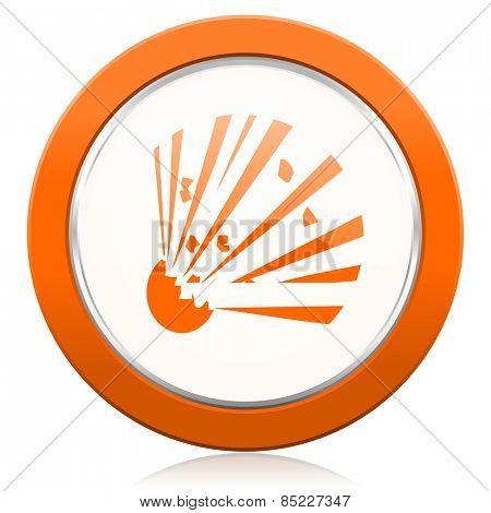 bomb orange icon