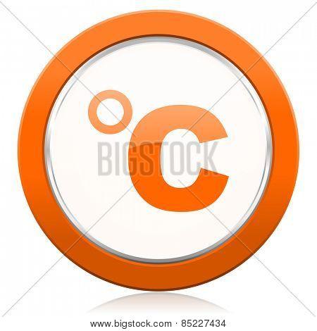 celsius orange icon temperature unit sign
