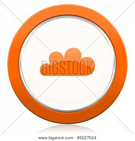cloud orange icon waether forecast sign