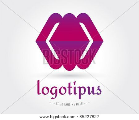 Abstract vector logo template for branding and design