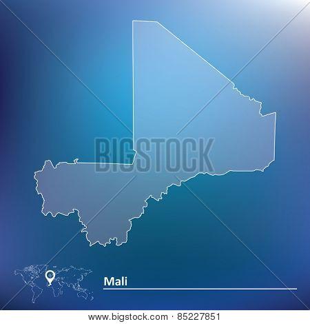 Map of Mali - vector illustration