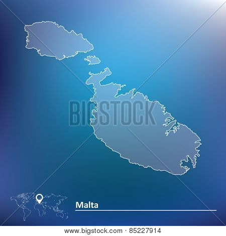 Map of Malta - vector illustration