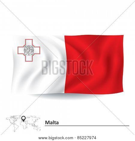 Flag of Malta - vector illustration