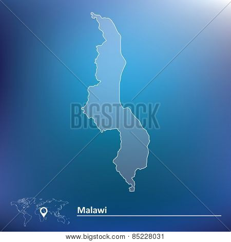 Map of Malawi - vector illustration