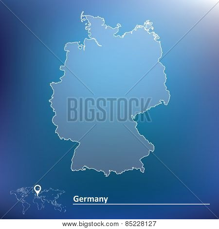 Map of Germany - vector illustration