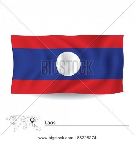 Flag of Laos - vector illustration