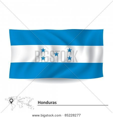 Flag of Honduras - vector illustration