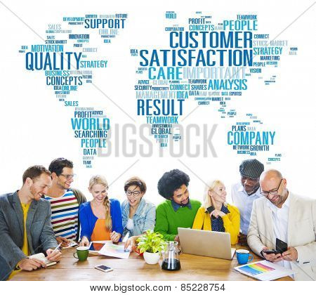 Customer Satisfaction Reliability Quality Service Concept