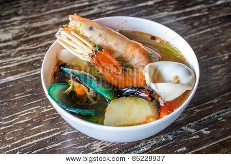 Tom Yam Kung Or Tom Yam Goong (thai Foods)