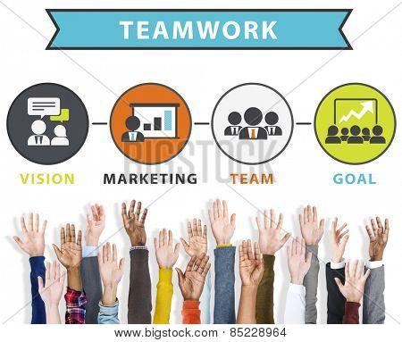 Team Vision Marketing Goal Corporate Teamwork Concept