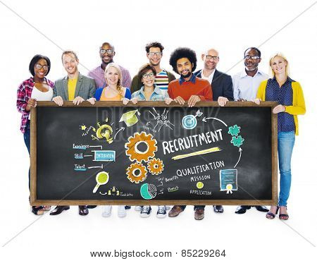 Ethnicity People Holding Recruitment Togetherness Concept