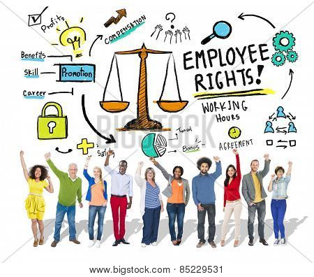 Employee Rights Employment Equality People Celebration Success Concept