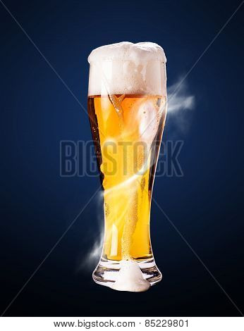 Lager Beer In Goblet