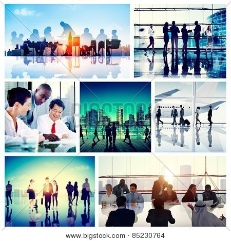 Business People Corporate Travel Collection Concept