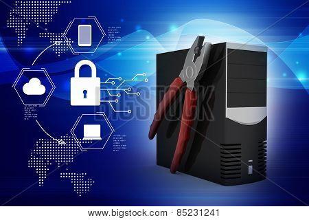 computer repair service concept