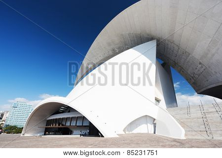 TENERIFE, SPAIN: NOVEMBER 23, 2014: Auditorio de Tenerife in Tenerife, Spain. It was designed by architect Santiago Calatrava Valls and opened in 26 September 2003.
