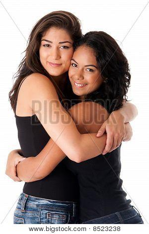 Best Friends - Hugging Women