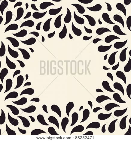 Vector seamless pattern. Floral vintage backgrounds drops blank foliage plants