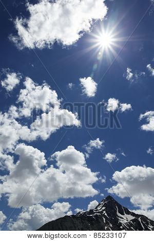Sun Sky With Clouds