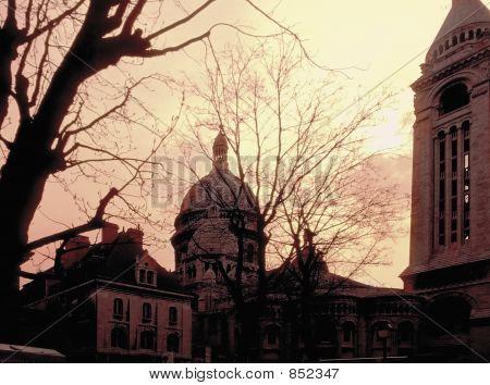 montmartre basilica sacre couer paris sunset