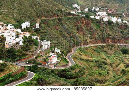 Winding road in Anaga Mountains, Tenerife, Spain, Europe