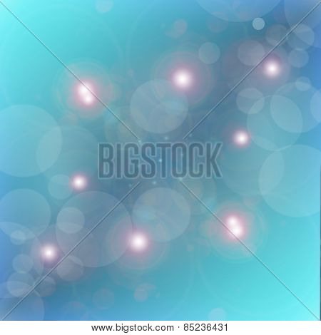AAbstract Background Of Blue Star Burst