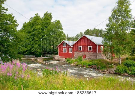 Irjanne, Eurajoki. Finland. Old mill and sawmill