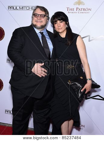 LOS ANGELES - FEB 14:  Guillermo de Toro & Lorenza Newton arrives to the Make-Up Artists & Hair Stylists Guild Awards 2015  on February 14, 2015 in Hollywood, CA