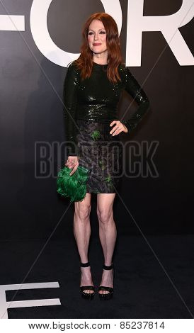 LOS ANGELES - FEB 20:  Julianne Moore arrives to the Tom Ford Autumn/Winter 2015 Womenswear Collection Presentation  on February 20, 2015 in Hollywood, CA