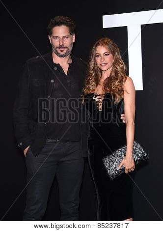 LOS ANGELES - FEB 20:  Joe Manganiello & Sofia Vergara arrives to the Tom Ford Autumn/Winter 2015 Womenswear Collection Presentation  on February 20, 2015 in Hollywood, CA