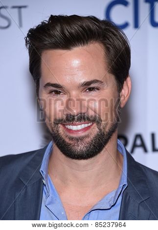 LOS ANGELES - MAR 08:  Andrew Rannells arrives to the Paleyfest 2015