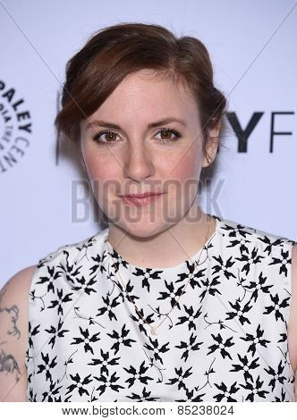 LOS ANGELES - MAR 08:  Lena Dunham arrives to the Paleyfest 2015