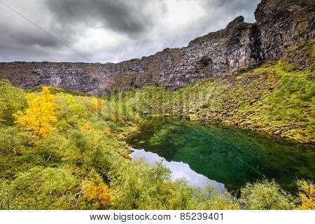 Asbyrgi canyon in Northern Iceland